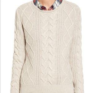 Nordstrom Cableknit Crewneck Sweater